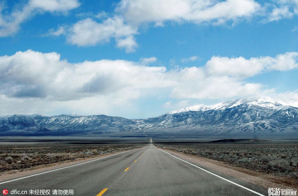 """美国50号公路被称为全美最孤独的公路美国50号公路全程长度为3008英里;即4841公里·被称为""""全美最孤独的..."""