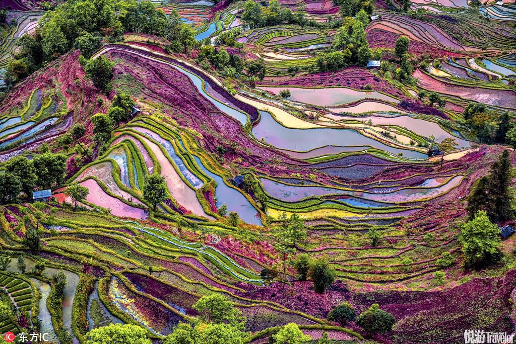 盘点地球上那些五彩斑斓的色彩天堂