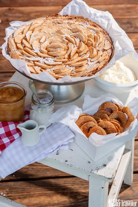 香烤苹果酱脆烤苹果片苹果蛋糕