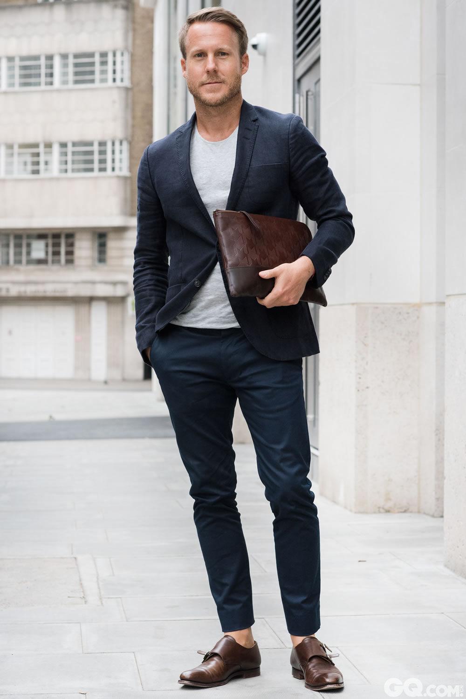 Steven T-shirt: Acne Trousers: Dolce & Gabbana  Shoes:Crooklyn & Jones  Clutch: Otis Batterbee  Inspiration: Comfort, as always (舒适是永恒的主题)