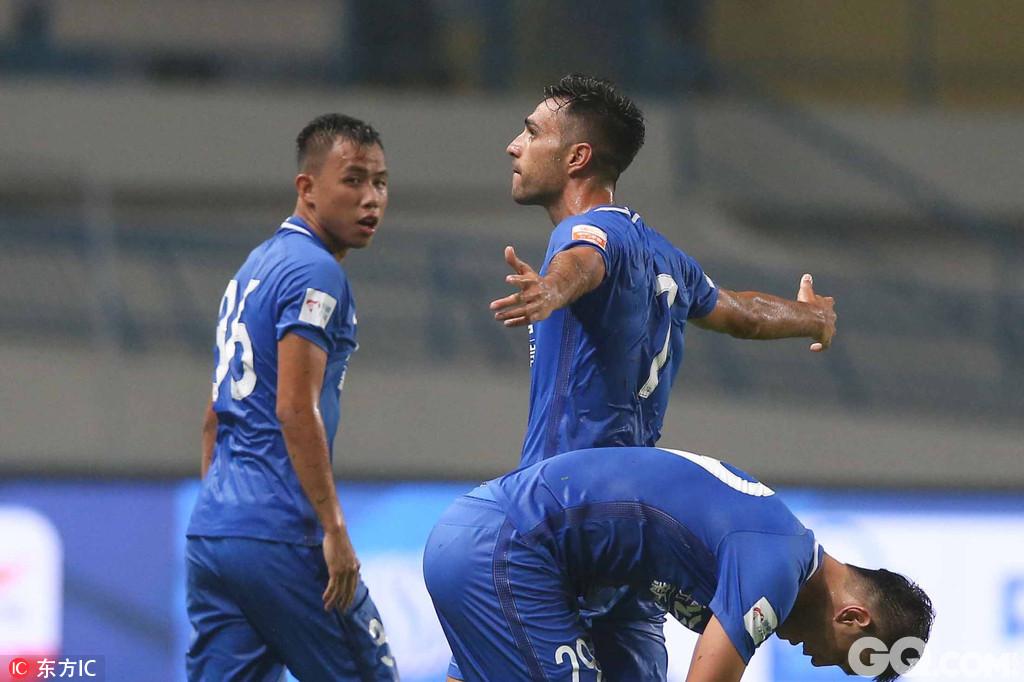 2017年6月18日,广东广州,2017中超联赛第13轮,广州富力1-1上海上港。