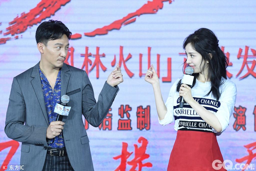 """2017年7月16日,北京,众星出席电影《绣春刀·修罗战场》""""风林山火""""首映发布会。"""