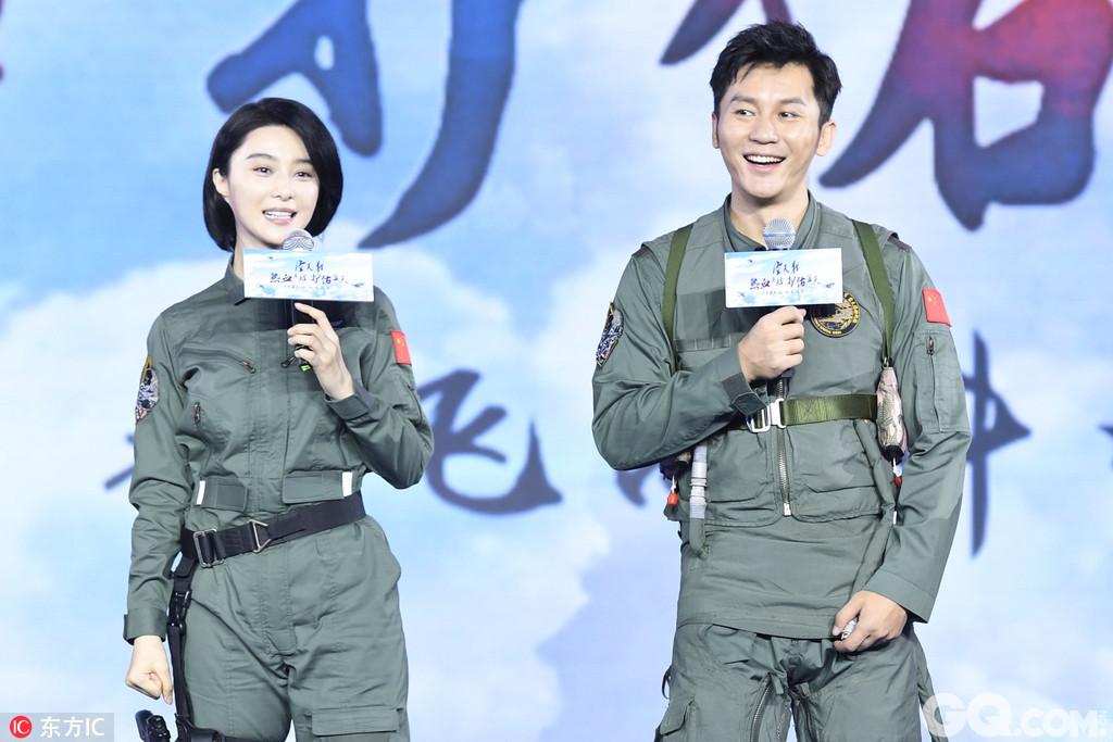 2017年8月9日,北京,电影《空天猎》发布会。