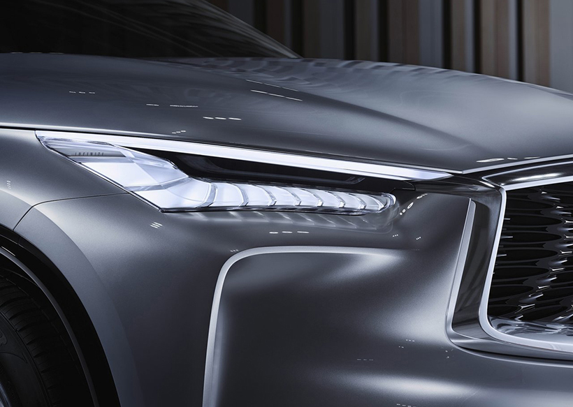 在此基礎上,才會傳承概念車的車燈設計,所以,概念車上驚天地泣鬼神的