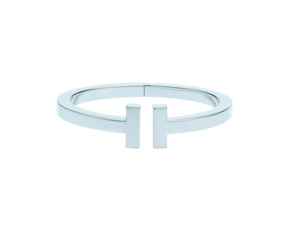 王耀庆佩戴Tiffany T系列18k 白金手镯