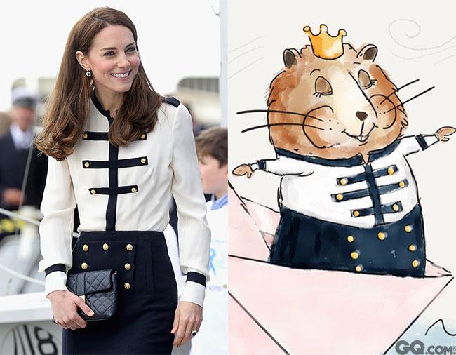 英国人民觉得王室成员太过严肃高冷,于是画出了这一系列的漫画形象,按照凯特王妃和乔治小王子的经典形象,复刻出了老鼠一家的高端生活。王室变成卡通人物,好像特别亲民了。
