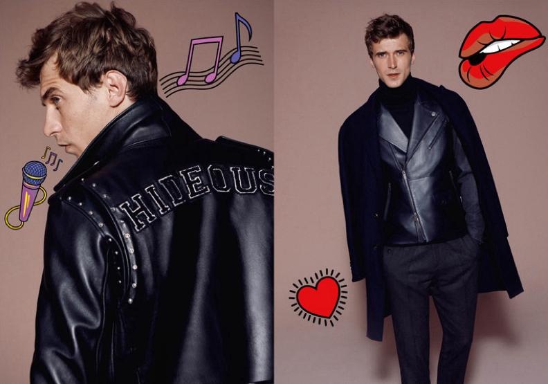 自带贴图的大片,是今冬所有大片中的一枝独秀。将本应高冷的时尚大片,拍摄出充满童心的视觉效果,也是一种大胆的尝试。顶级男模Clément Chabernaud,展示了Dsquared2,Etro,与Academia的最新男装,每款服装都有各具特色,刺绣孔雀的夹克衫个性独特。
