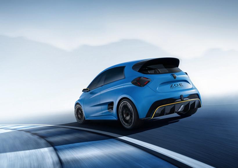 雷诺ZOE e-sport概念车作为一辆尺寸十分MINI的车辆,你一眼就能看出这是一辆开起来操控感十足的小车。