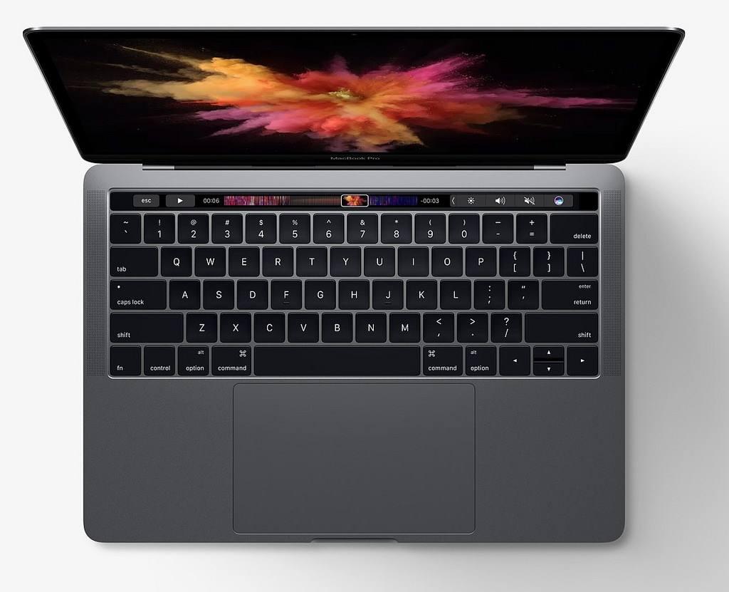 NO.1苹果Touch Bar版MacBook Pro 新版的MacBook Pro有三版版本,都是超薄机身,最大的区别就是Touch Bar。Touch Bar是一种取代功能按键的OLED触控屏幕,在键盘的上方,可以完成基本的功能操作,而且价格也高不少。