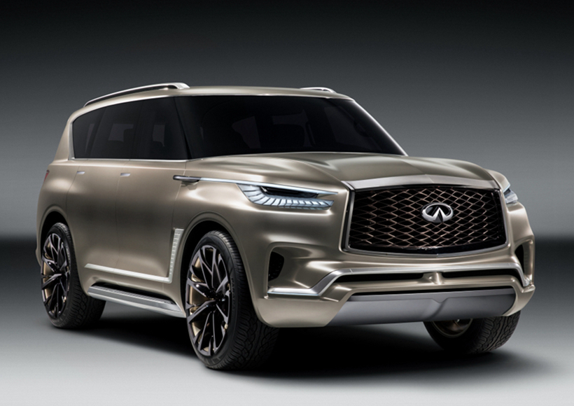 早期的Infiniti展示车已经开始与客户进行对话,他们对未来Infiniti大型SUV的期望,像极了一个完美男友的标准:强大优雅,豪华实用!