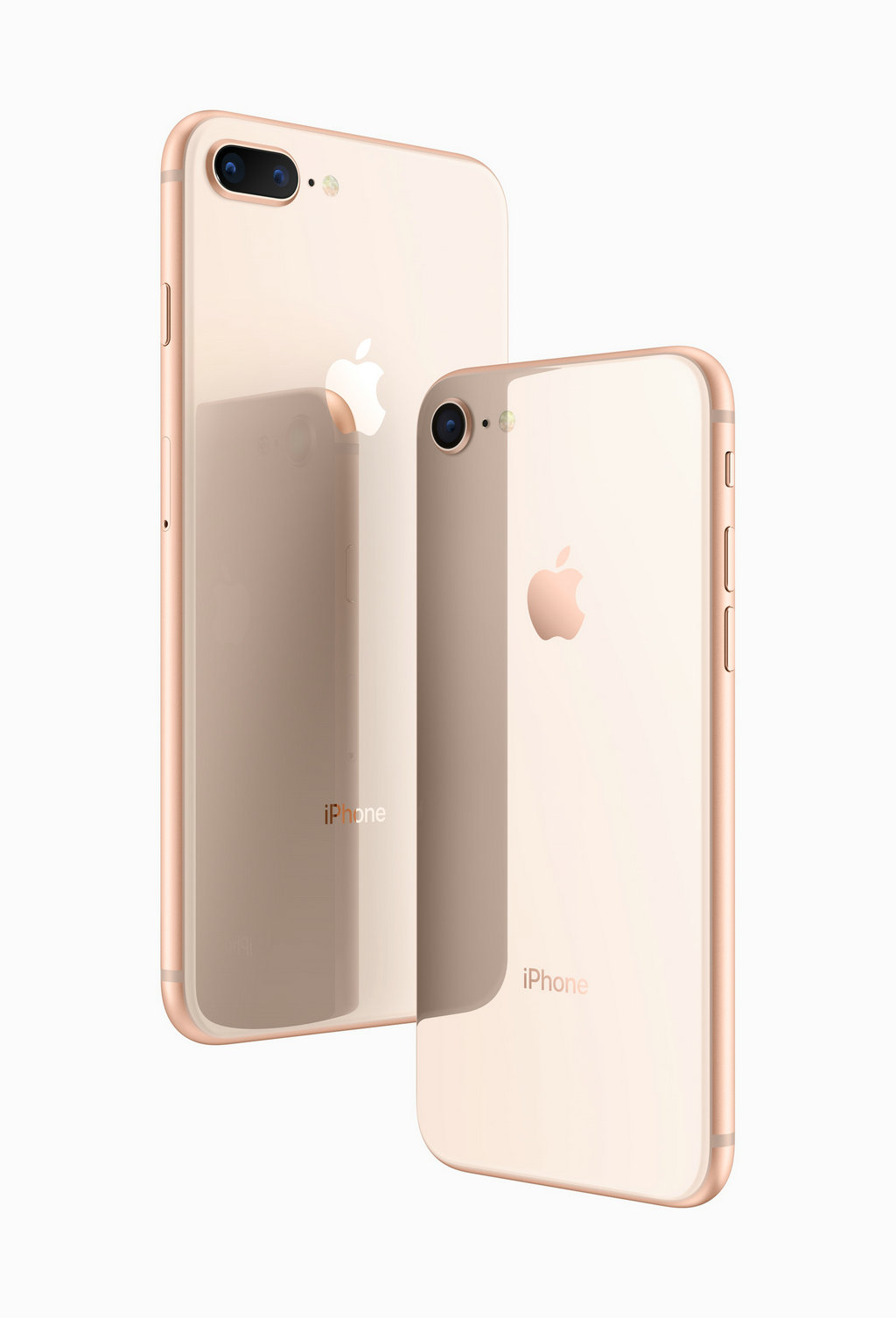 iPhone 8外观和尺寸比起前代iPhone并无太大变化,铝合金机身,并用上了玻璃材质。iPhone 8 和 iPhone 8 Plus 支持防水,支持 3D Touch 和双扬声器技术。