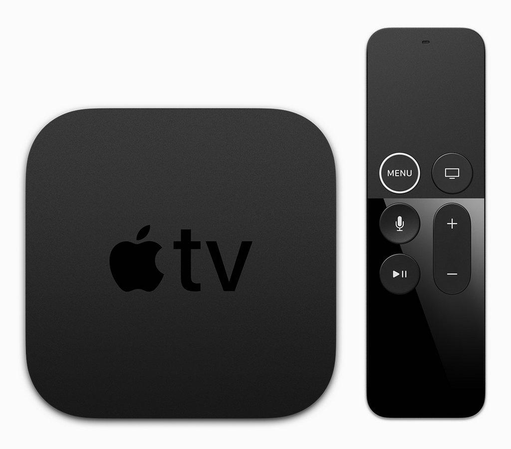 """新推出的 Apple TV 4K,对 Siri Remote 进行了细微的重新设计,""""菜单""""按钮外新增了一个白色的圆圈。"""