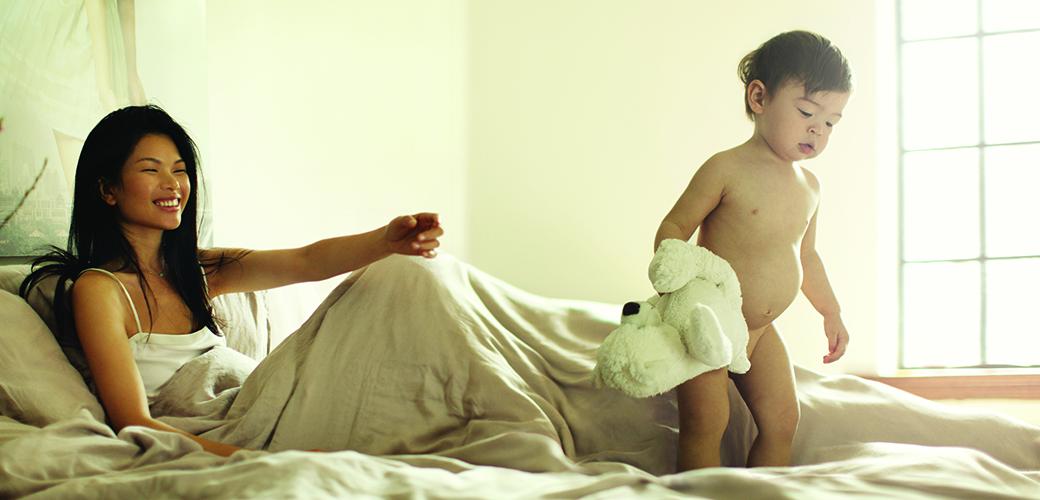 美丽人生:妈妈们和孩子在家!