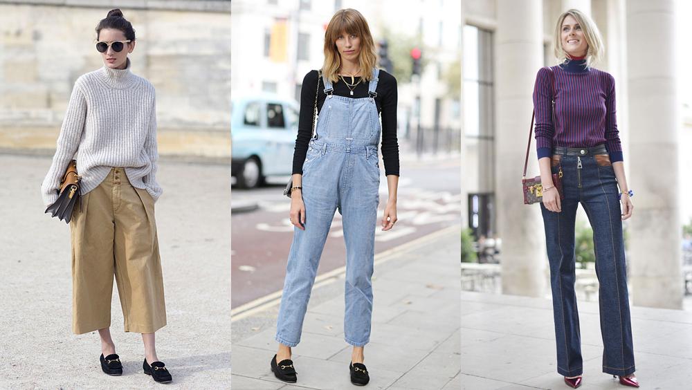 毛衣+长裤 冬季的五个时髦搭配公式
