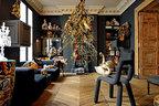 客厅里仿佛,奏响着动物幻想曲一棵从天花板倒垂下来的拼布圣诞树更是成为吸睛重点。客厅里,左起的小桌子、沙发上的几个抱枕、包裹着织锦面料的动物装饰品等,都是Frédérique Morrel的作品。前景处,放着Moustache制造的Bold Chair,后面两只巨大的填充天鹅玩偶是从一位古董商手里得到并修复的,是可以追溯到19世纪的老物件。
