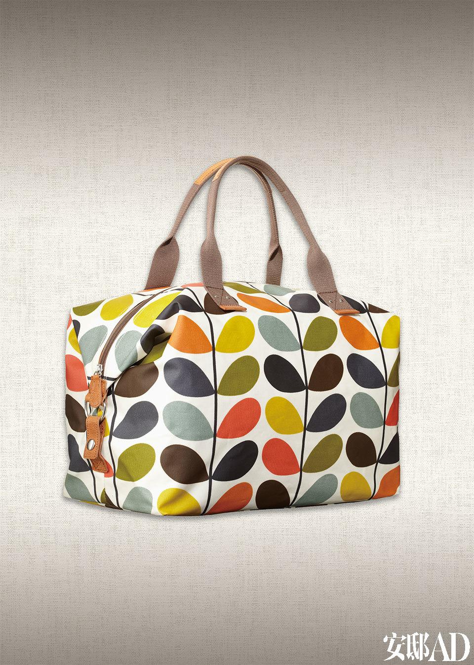 Orla的成名作之一,彩色树叶图案手提包。
