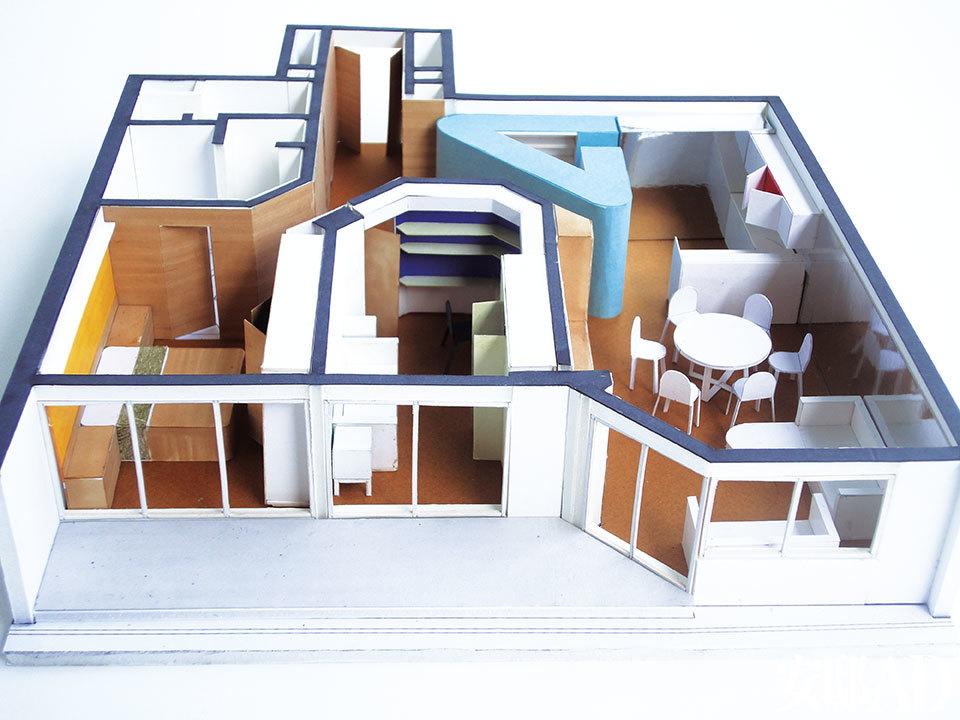 设计师为向主人汇报方案而准备的立体模型。