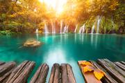 克罗利亚普利特维采湖:普利特维采湖群国家公园为东南欧历史最悠久,也是克罗地亚最大的的国家公园。公园...