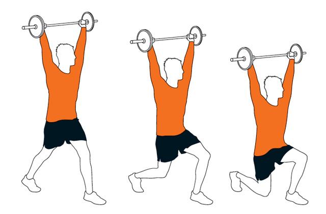 杠铃锻炼腹肌方法图解