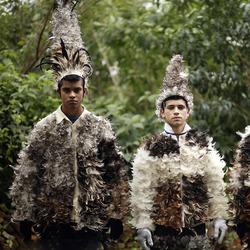 """巴拉圭小镇""""鸟人大会"""" 庆祝圣弗朗西斯科-索拉诺节"""