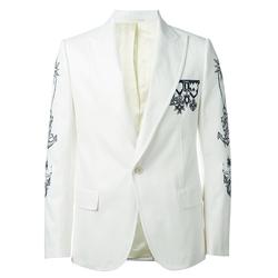 单品推荐:ALEXANDER MCQUEEN 白色西装