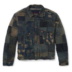 单品推荐:KAPITAL 传统拼接丹宁外套