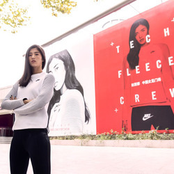 女足门将赵丽娜展现别样冠军风范 演绎2016 Nike Sportswear Tech Pack 秋季系列