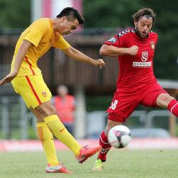 热身赛:中国U20 0-1 阿斯巴赫