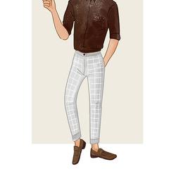 每日穿搭|有腔调的格纹西裤