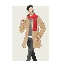 每日穿搭|围巾用来抗冻,时髦交给刺绣