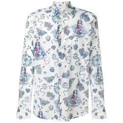 印花衬衫打造别样复古优雅风味