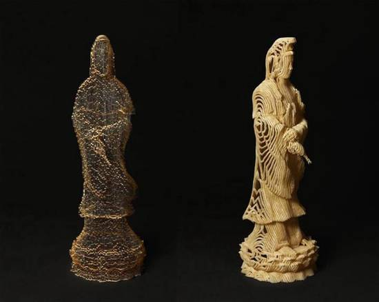 韩国艺术家的创意镂空纸雕