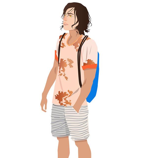 每日穿搭 让背包肩带成为穿搭配饰的一部分
