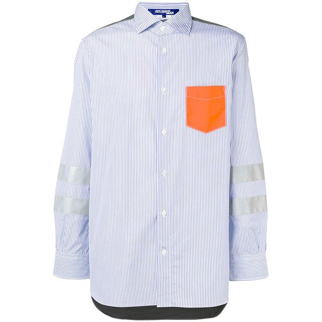 不想一成不变,试试这件拼贴衬衫