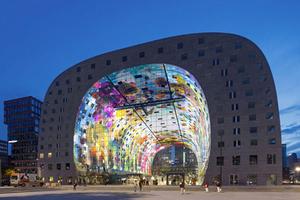 荷兰新地标:鹿特丹巨型拱廊市场Markthal