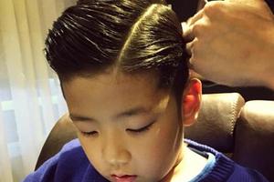 石头秀出新发型:从小就有范儿的明星宝贝