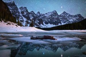 冰天雪地里的奇幻自拍