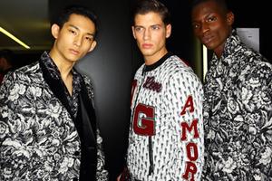 2015秋冬米兰男装周 Dolce & Gabbana秀场后台
