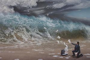 气势磅礴的超现实风暴绘画