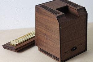 复古风格!复刻精美木质苹果初号机