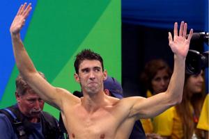菲爾普斯里約奧運完美謝幕 將告別泳壇