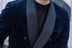 时尚孔雀男和理工男都能穿的丝绒衣衫
