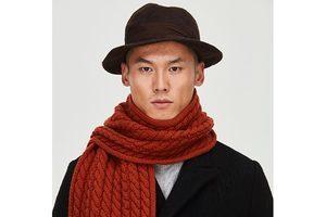 冬季代替领带的长围巾