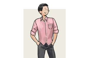 每日穿搭|浅粉色的衬衣,看得见的气质
