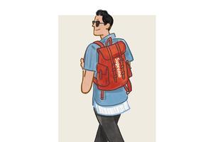 每日穿搭|红色背包自带减龄buff