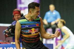 2017羽毛球世锦赛男单第2轮:林丹2-1霍尔斯特