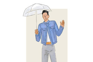 每日穿搭|穿不了透明鞋用不了透明包打透明雨伞总可以