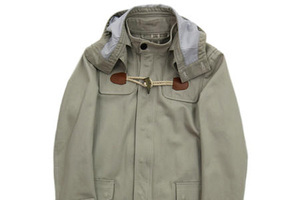 清新大气的牛角扣饰大衣
