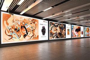 華為新年插畫走進地鐵,MatePad Pro用創新科技打造溫馨年味兒!