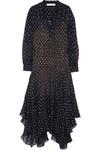Marian 真丝混纺刺绣提花超长连衣裙